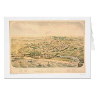 Santa Cruz, CA. Panoramic Map (1586A) - Unrestored Greeting Card