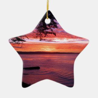 Santa Cruz, CA. Sunrise Ceramic Ornament