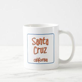 Santa Cruz California BlueBox Basic White Mug