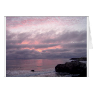 Santa Cruz California photo card, Pink Sunset Card