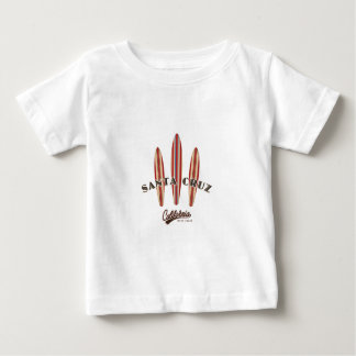 Santa Cruz California Three Surfboards Baby T-Shirt