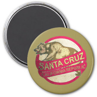 Santa Cruz California vintage bear magnet