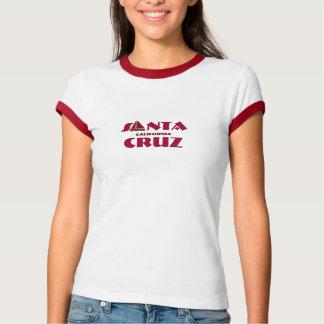 Santa Cruz, California - with red Sailboat Icon T-Shirt