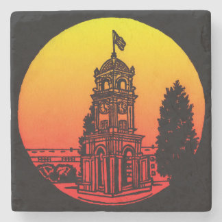 Santa Cruz Clock Tower Stone Coaster
