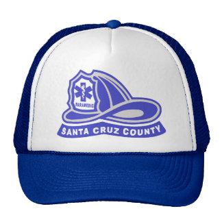 Santa Cruz County Paramedic Helmet Logo Mesh Hats