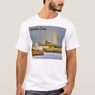 Santa Cruz Lighthouse/Rainbow - T-Shirt