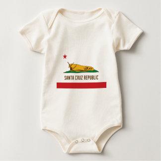 Santa Cruz Republic Banana Slug Flag Baby Bodysuit