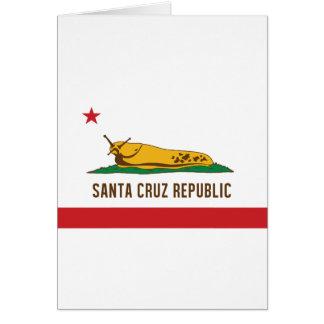 Santa Cruz Republic Banana Slug Flag Card