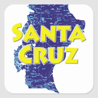 Santa Cruz Square Sticker