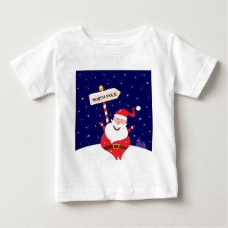 Santa cute red on white baby T-Shirt