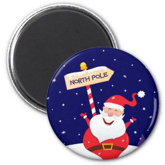 Santa cute red on white magnet