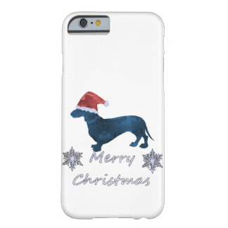 Santa Dachshund Barely There iPhone 6 Case