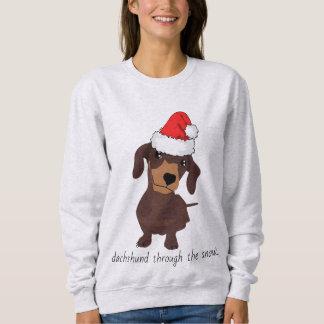 Santa dachshund cute Christmas Xmas Jumper Sweater