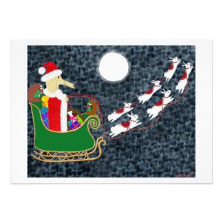 Santa Dachshund Cards