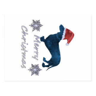Santa Dachshund Postcard