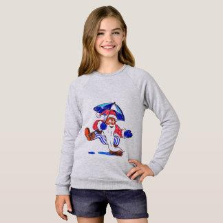Santa Dancing in the Rain Kid T-shirt
