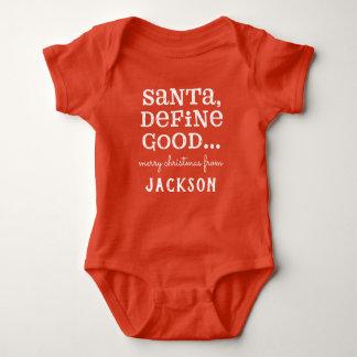 SANTA, DEFINE GOOD BABY BODYSUIT