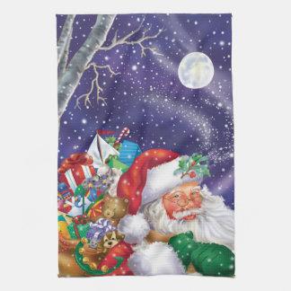 Santa Delivers Kitchen Towel