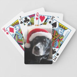 Santa Dog-Labrador Rottweiler Mix Poker Deck