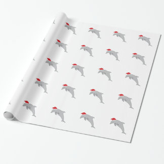Santa Dolphin Wrapping Paper