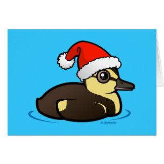 Santa Duckling Card