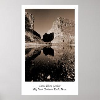 Santa Elena Canyon Poster