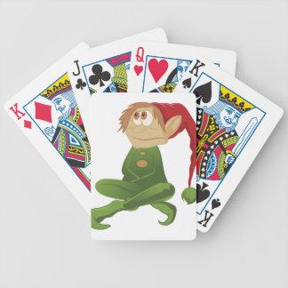 Santa Elf Merry Christmas Poker Cards