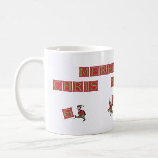Santa Elves Typo right hand coffee mug