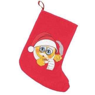 Santa Emoji Christmas Stocking