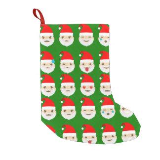 santa emoji emoticons stocking