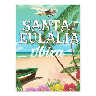 Santa Eulalia Ibiza vintage travel poster 17 Cm X 22 Cm Invitation Card
