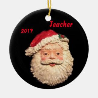 SANTA FACE 2017 TEACHER COLLECTOR ORNAMENT