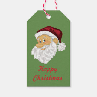 Santa face custom Christmas gift labels