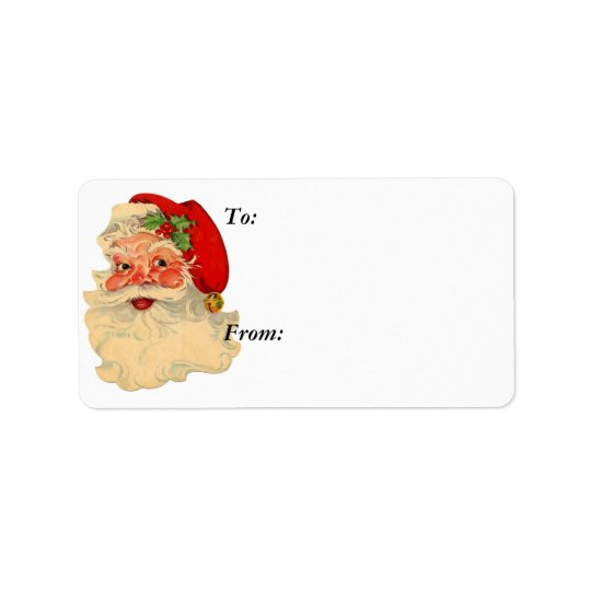 Santa Face Gift Label