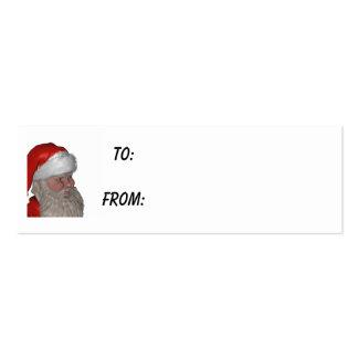santa face  gift tag business card