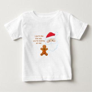 Santa Face Gingerbread Boy Baby T-Shirt