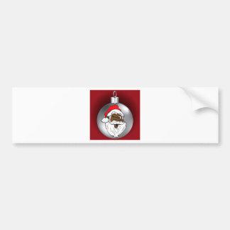 Santa Face Ornament 2 Bumper Sticker
