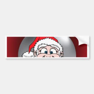 Santa Face Ornament 7 Bumper Sticker