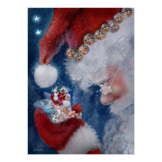 Santa & Faery Holiday Poster