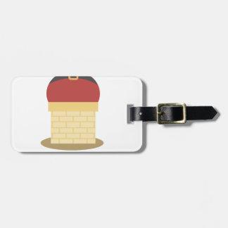 santa fat luggage tag