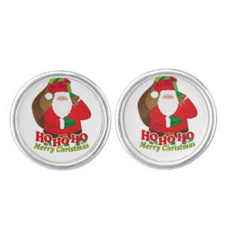 Santa / Father Christmas ho ho ho color cufflinks