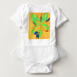 Santa Fe Acid wash yellow Baby Bodysuit