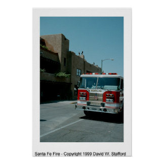 Santa Fe Fire Poster