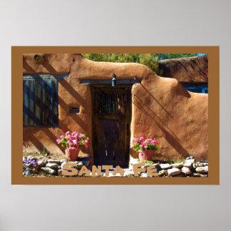 Santa Fe New Mexico Architecture Poster