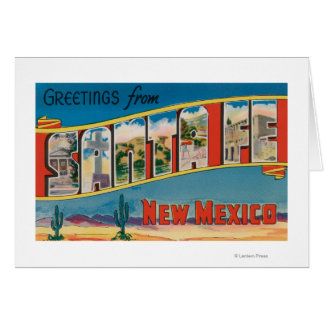 Santa Fe, New Mexico - Large Letter Scenes 2 Greeting Card