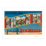 Santa Fe, New Mexico - Large Letter Scenes 2 Post Card