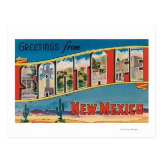 Santa Fe, New Mexico - Large Letter Scenes 2 Postcard