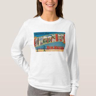 Santa Fe, New Mexico - Large Letter Scenes 2 T-Shirt