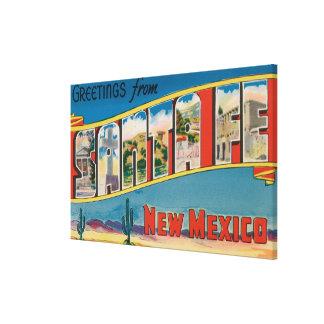 Santa Fe, New Mexico - Large Letter Scenes Canvas Print