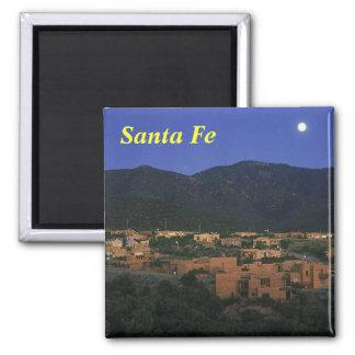 Santa Fe New Mexico, Santa Fe Square Magnet